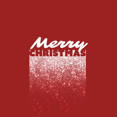 snowfall: Merry Christmas Card With Snowfall