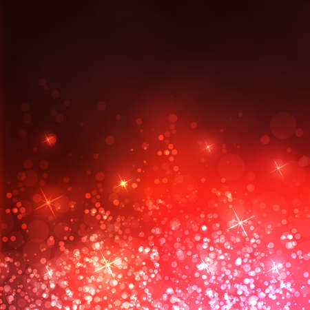 Sparkling Cover Design Template with Abstract, Blurred Background for Christmas, New Year or Other Holiday Designs