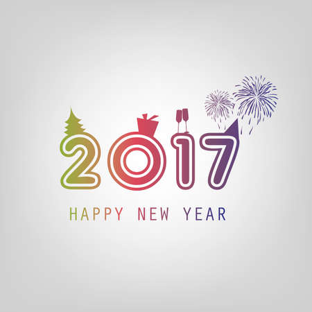 Best Wishes - New Year Card Background Template - 2017