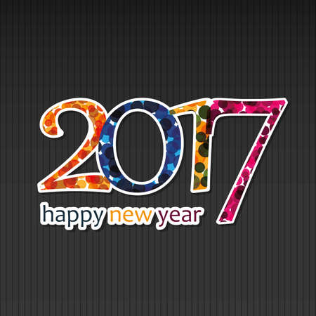 best: Best Wishes - Happy New Year Greeting Card or Background, Creative Design Template - 2017