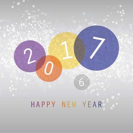 best background: Best Wishes - Simple Colorful Abstract Modern Style Happy New Year Greeting Card, Cover or Background, Creative Design Template - 2017