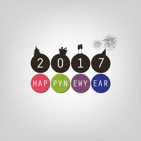 best background: Best Wishes - Happy New Year Card or Cover Background Template - 2017