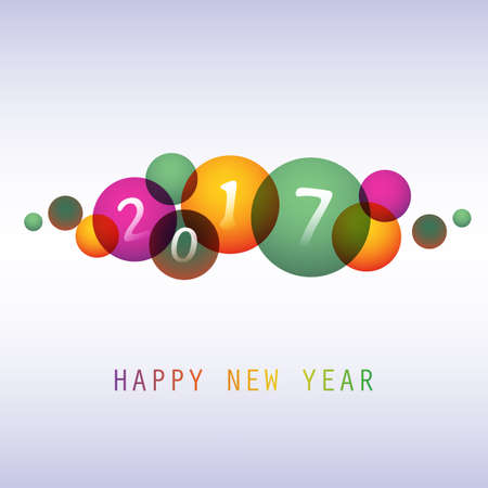best wishes: Best Wishes - Colorful Abstract Modern Style Happy New Year Greeting Card, Cover or Background, Creative Design Template - 2017