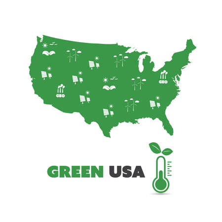 Green USA Concept Design Illustration
