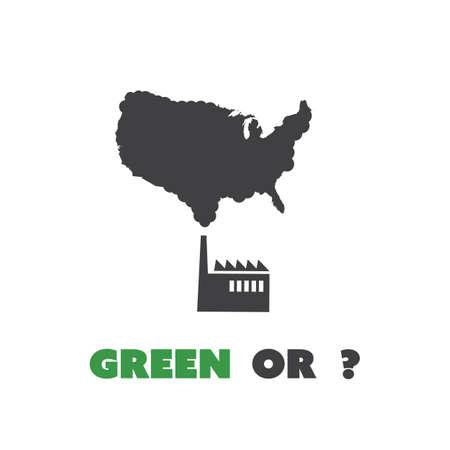 house warming: Green Or? - Eco USA Concept Design Illustration
