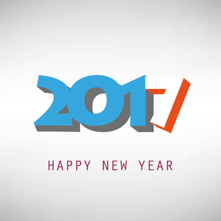 best background: Best Wishes - Abstract Modern Style Happy New Year Greeting Card or Background, Creative Design Template - 2017