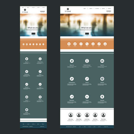 one people: Responsive One Page Website Template with Blurred Background - People in Underground, Header Design - Desktop and Mobile Version