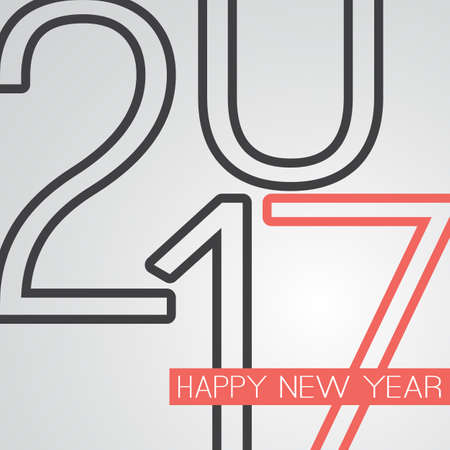 best background: Best Wishes - Abstract Retro Style Happy New Year Greeting Card or Background, Creative Design Template - 2017