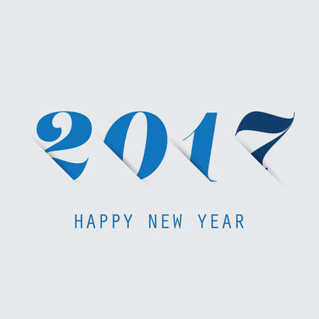 night out: Simple Blue New Year Card, Cover or Background Design Template - 2017
