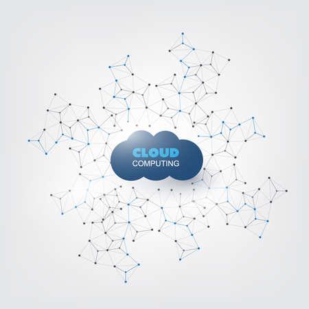 Cloud Computing Design Concept - Connessioni di rete digitale, Sfondo Tecnologia