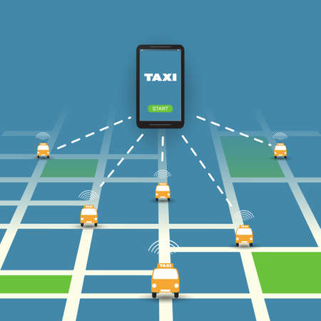 mobile application: Taxi Ordering Mobile Application, Service Concept Design