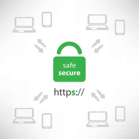 https: Secure Online Communication Concept