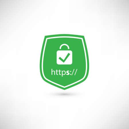 https: Secure Website Certificate Badge