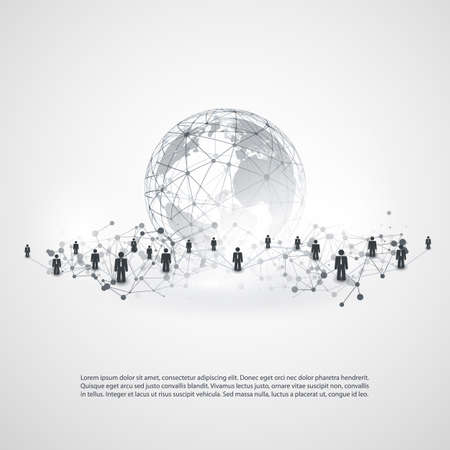 group link: Networks - Business Connections - Social Media Concept Design Illustration