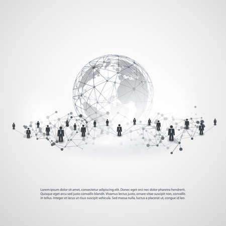 Redes - Conexões de Negócios - Mídia Social conceito de design Ilustração