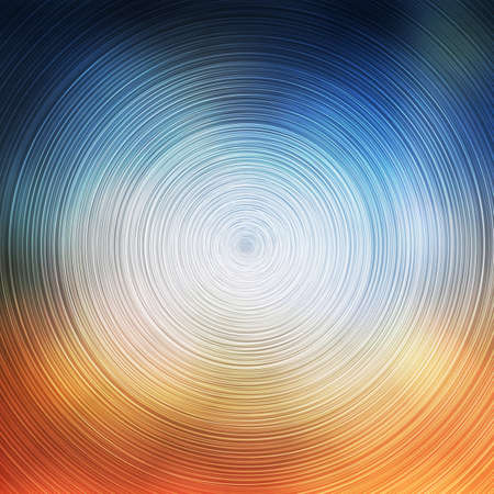 Abstract Colorful Concentric Circles Pattern on Blurred Background, Vector Design
