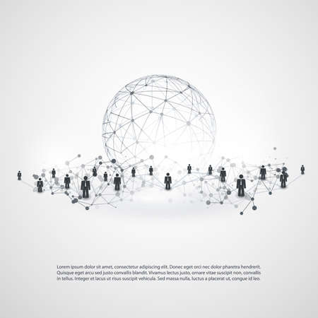 Networks - Business Connections - Social Media Concept Design Ilustracja