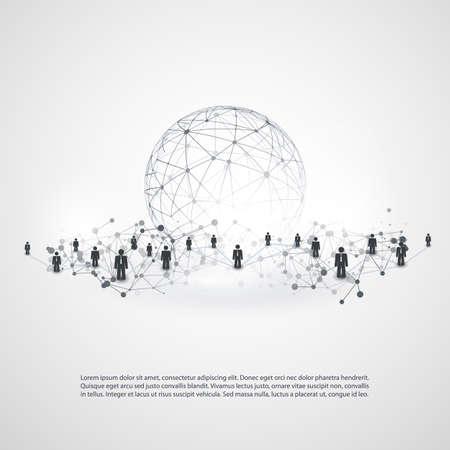 Réseaux - Business Connections - Social Media Concept design Banque d'images - 73763212