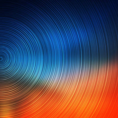 Decorative design of an abstract Colorful Concentric Circles Pattern on Blurred Background