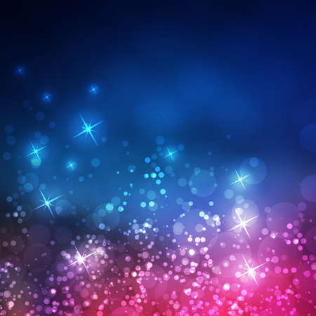 Colorful Sparkling Cover Design Template with Abstract Blurred Background