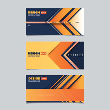 submenu: Web Design Elements - Header or Banner Design Set