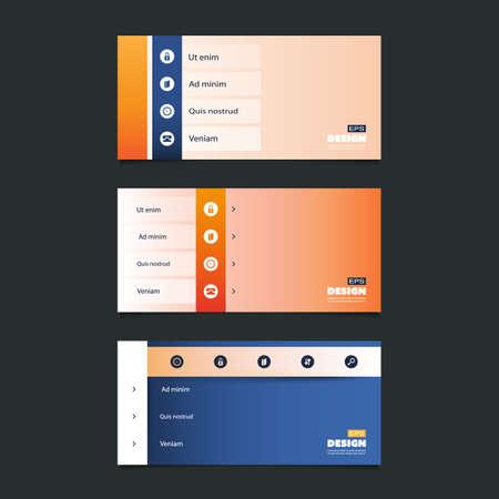 web design elements: Web Design Elements - Header or Banner Design Set