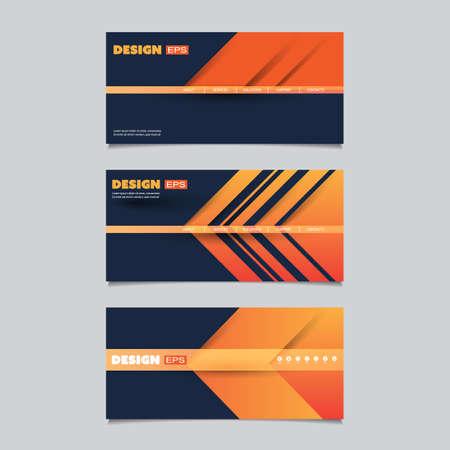 web design elements: Web Design Elements - Header or Banner Design Set.