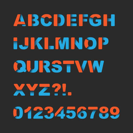 uppercase: Colorful Font Set - Typography Design