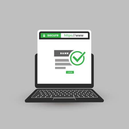 Web ブラウザーのアドレス バーの安全な閲覧とオンライン バンキング、モバイル コンピューター上の通信に記載されている HTTPS プロトコル