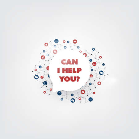 Can I Help You? - Colorful AI, Audio Voice Assistant, Speech Driven Mobile User Interface, Digital Communication Concept Design
