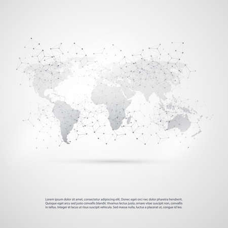 contemporary: Cloud Computing and Global Network Communication Concept Design with Transparent Geometric Mesh Illustration