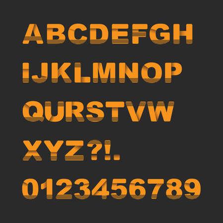 font design: Round Font Set - Typography Design