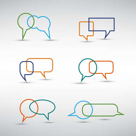 Colorful Speech Bubbles Design Set