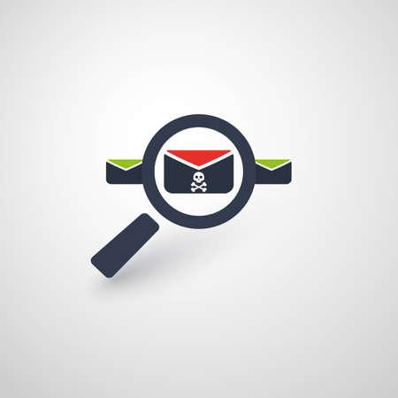 Vérification de la sécurité, balayage des virus, nettoyage, élimination des logiciels malveillants, Ransomware, fraude, spam, phishing, escroquerie par courrier électronique, effets d'attaque et dommages causés par le piratage - Concepts de concept de sécurité informatique