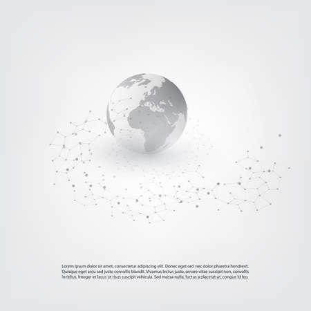 Cloud Computing et Global Network Communication Concept avec un treillis géométrique transparent Banque d'images - 79623042