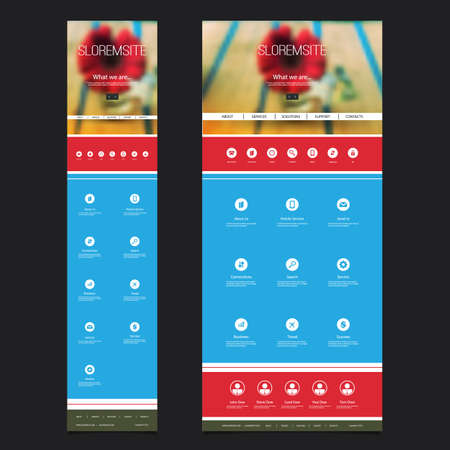 responsive: Responsive One Page Website Template with Blurred Background - Red Flower Header Design - Desktop and Mobile Version