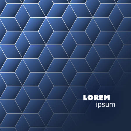 Cubes Pattern - Abstract Background Template Illustration