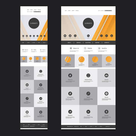version: Responsive One Page Website Template - Desktop and Mobile Version