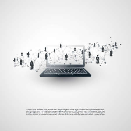 Networks - Business Connections - Social Media Concept Design Ilustrace