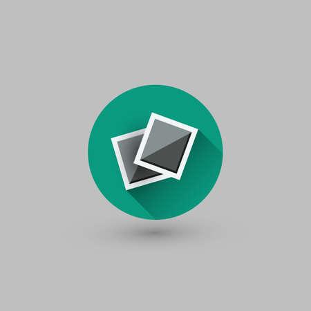 Flache UI Design - Bunte Webdesign Element - Fotos Icon Standard-Bild - 85570920