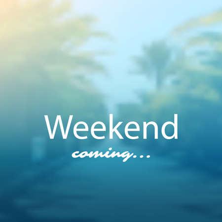 Weekend Coming - Banner Design Archivio Fotografico - 86389492