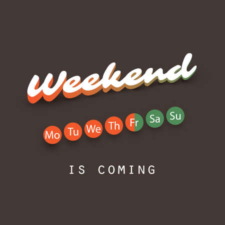 Weekend Coming Soon Concept