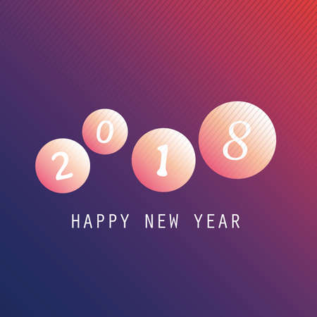 2018 Happy New Year greeting on a black background.