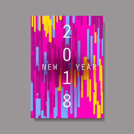best wishes: New Year Flyer, Card or Background Vector Design - 2018 Illustration