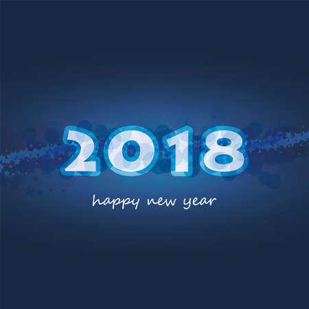 numeric: Best Wishes - Abstract Modern Style Happy New Year Greeting Card or Background, Creative Design Template - 2018