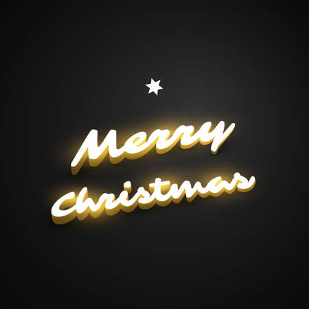 Merry Christmas, Happy Holidays Greeting Card Illustration