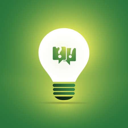 Green Eco Energy Concept Icon.