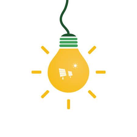 sun energy: Solar Energy Concept Design - Light Bulb