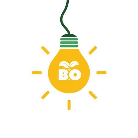 Bio Energy concept design. Illustration