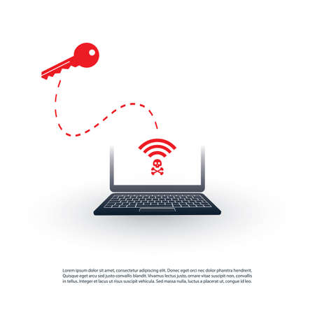 Unsecured Public Wireless Hotspot Design - Wifi Security Breaches, Business Cybercrime Concept